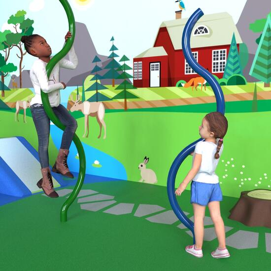 this image shows the climbing element Wobble for the play floor