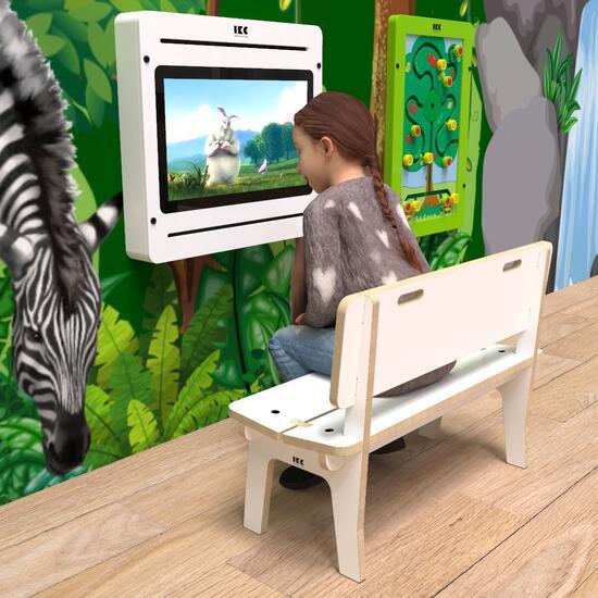 Op deze afbeelding ziet u kindermeubel buxus kinderbank hoog wit
