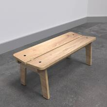 Op deze afbeelding ziet u de Buxus Bench wood uit de kindermeubel collectie Buxus